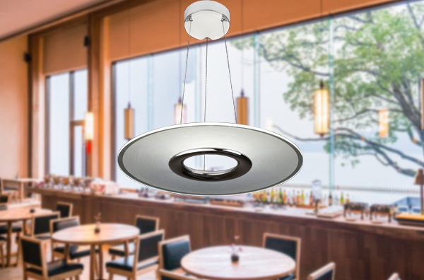 Luminous Adjustable LED Pendant Lamp High Color Rendering Index With Round Light Panel